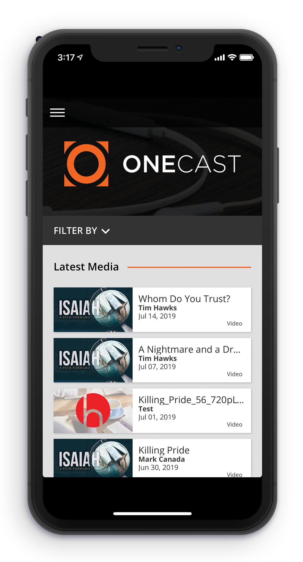 OneCast Church Media Players and iPhone Apps